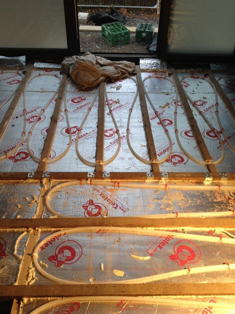 110m 178 Underfloor Heating Installation In Between Joists At