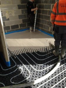 35m² Water underfloor heating installation in Yeadon Nr Leeds