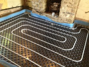 75m underfloor heating installation at Nottingham
